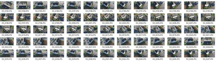 3Dモデル作成用のドローン空撮写真