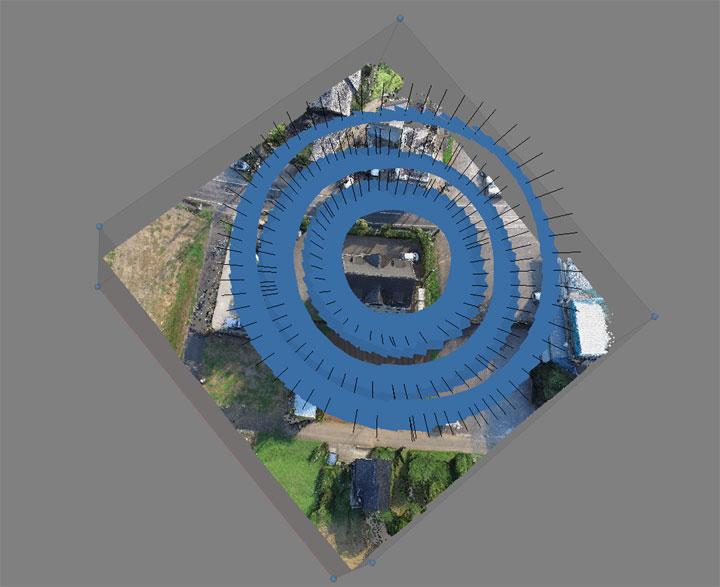 空撮3Dモデル高密度クラウド構築