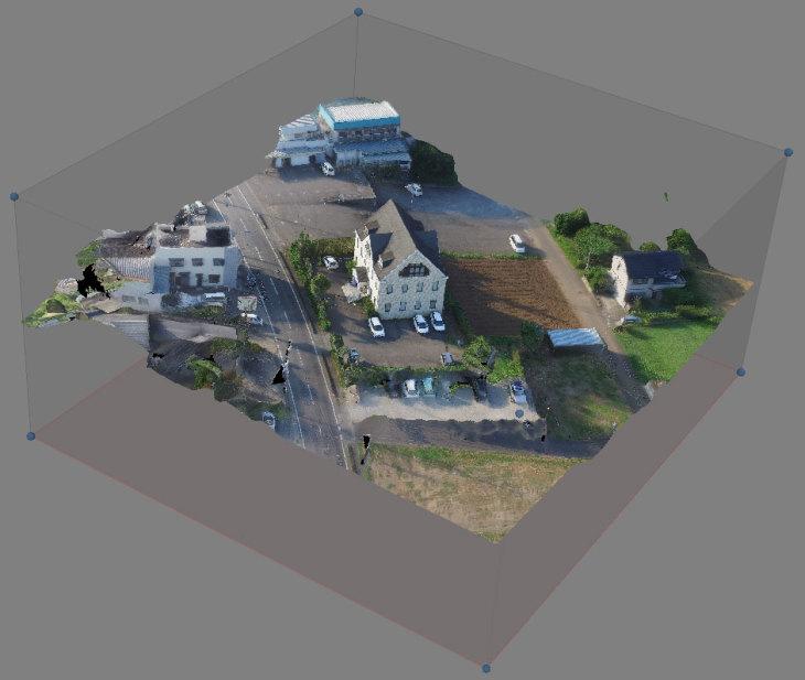 空撮3Dモデルテクスチャ構築