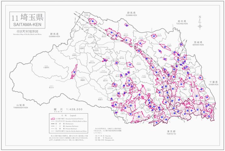 埼玉県人口集中地区境界図